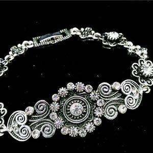 Stunning tibetan silver bracelet
